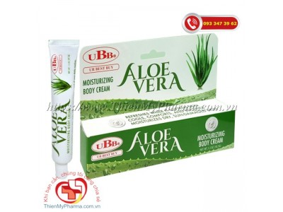 UBB Aloe Vera Moisturizing Body Cream: Lô Hội dạng Gel (42,5 gr)