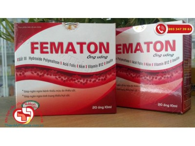 Hoạt huyết bổ máu Fematon - Giúp bổ sung sắt, acid folic và các chất cần thiết cho quá trình tạo máu
