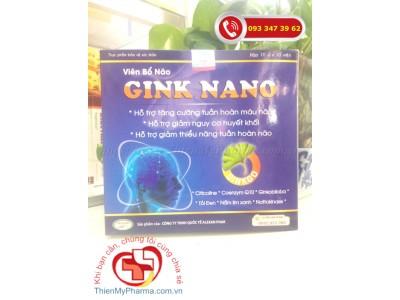 VIÊN UỐNG BỔ NÃO GINK NANO - Hỗ trợ tăng cường tuần hoàn máu não