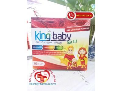 SIRO BỔ SUNG SẮT CHO BÉ KING BABY - Giúp bổ sung sắt III, acid folic và các chất cần thiết cho bé