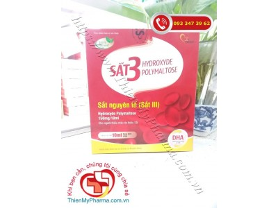 SIRO BỔ SUNG SẮT 3 HYDROXYDE POLYMALTOSE - Giúp bổ sung sắt III, acid folic và DHA cho cơ thể