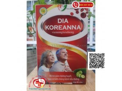 VIÊN UỐNG TIỂU ĐƯỜNG DIA KOREANNA | Hỗ Trợ Giảm Đường Huyết