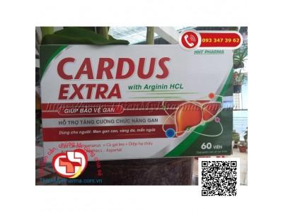 CARDUS EXTRA WITH ARGININ | HỖ TRỢ MÁT GAN, LỢI MẬT, BẢO VỆ GAN