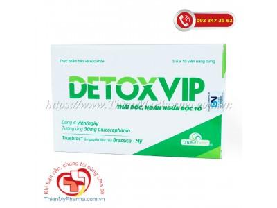 Viên uống Detoxvip - hỗ trợ thải độc, ngăn ngừa độc tố