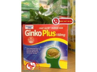 Hoạt huyết dưỡng não Ginko Plus 150mg - giúp giảm mệt mỏi, ù tai, đau đầu, hoa mắt, chóng mặt