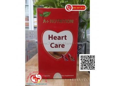 VIÊN UỐNG A+ NUTRITION HEART CARE - GIÚP GIẢM CHOLESTEROL, GIẢM XƠ VỮA ĐỘNG MẠCH