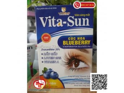 VIÊN UỐNG BỔ MẮT VITA-SUN | Hỗ trợ cải thiện thị lực, giảm mỏi mắt, mờ mắt, thoái hoá võng mạc