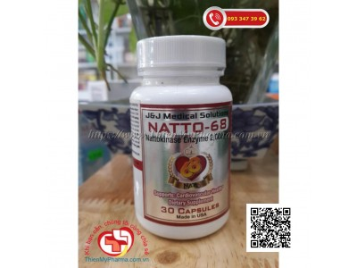 NATTO-68 NATTOKINASE ENZYME| HỖ TRỢ SỨC KHỎE TIM MẠCH, NGỪA ĐỘT QUỴ
